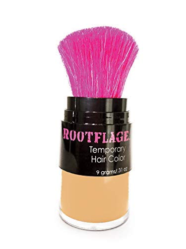 Rootflage Temporary Hair Color Highlight Root Touch Up (Sun Kissed) Instant Beachy Golden Shimmery Blonde Color for Use on Dark Hair