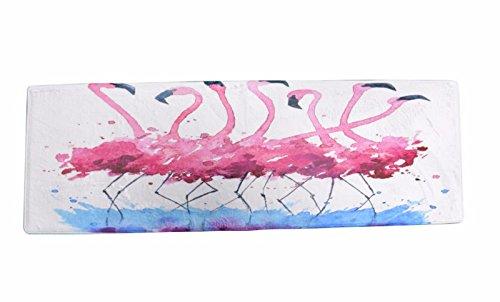 A.Monamour Badematten Badteppiche Badvorleger Lustig Rosa Flamingo Vögel Tanzen Ballett Microfiber Flanell Saugfähig Anti-Rutsch Bad Teppiche Dekorative Matten Für Badezimmer Boden Teppiche Fußmatten