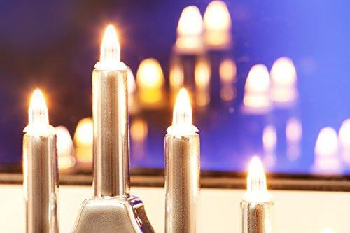 Weihnachtsbeleuchtung 7er Lichterbogen Leuchter silber Dekoration