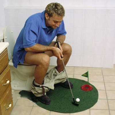 Blue Foot Products Potty Putter Putting Mat Golf Game [Misc.]