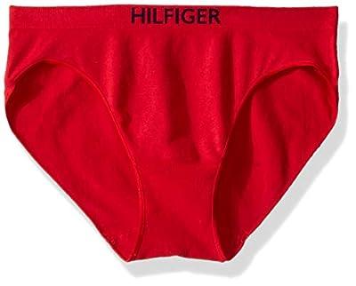 Tommy Hilfiger Women's Seamless Bikini Underwear Panty, Multipack, Apple Red, Large