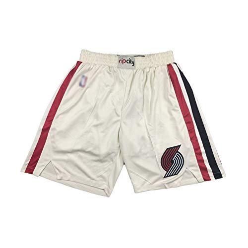 OKMJ # 22 Mens Clyde Drexler Basketball Jersey, Portland Trail Blazers 91-92 Retro Bordado Negro Baloncesto Uniforme, Transpirable y seco rápido, S-XXL Beige-M
