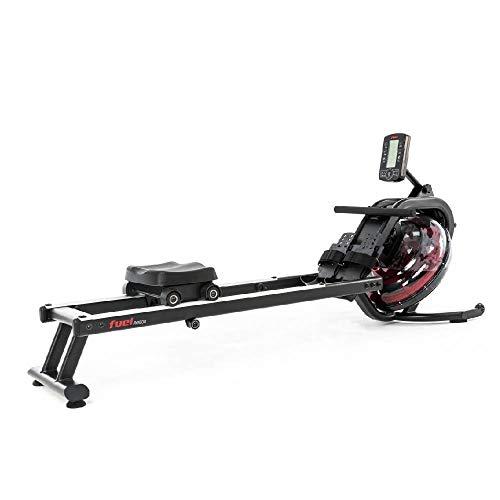 Fuel Fitness RG500 Fitness-Rudergerät, Wasserrudergerät für zuhause, realistisches Rudergefühl, Nutzergewicht bis 150kg, LCD-Rudercomputer mit App-Anbindung