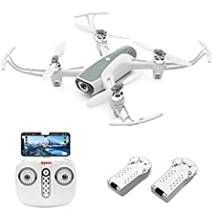 Dual Cameras: Drone with 1080P HD front camera and the 720P bottom camera, supports 5G WiFi FPV real time transmission, provides you with clear and fluent live video feed, offers a thrilling flight experience. Worry-Free Flight: With GPS Positioning,...