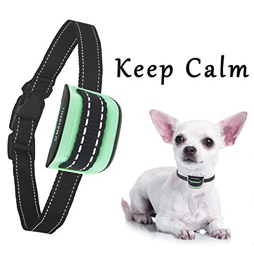 MASBRILL No Bark Collar-Effective Stop Dog Barking for Small, Medium,Large Dogs- No Harm Vibration Action Without Remote Collar-No Shock-Best Choice for Dog Lovers
