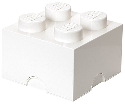 Room Copenhagen Lego Storage Brick with 4 Knobs, in White