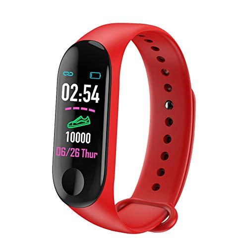 CHEYENNE Braccialetto Fitness Tracker Orologio Cardiofrequenzimetro,M3/M5 GPS Impermeabile IP67 Pressione Sanguigna per Donna Uomo Colore Touch Screen (Rosso) …