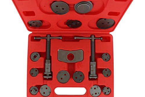 ABN Universal Front and Rear Caliper Disc Brake Screw-in Wind Back Rewind and Piston Compression 18-Piece Tool Kit Set Change Rear Disc Brakes