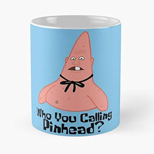 Squidward Squarepants Sandy Cartoons Star Patrick Plankton Spongebob Krabs Mr Best 11 oz Kaffeebecher - Nespresso Tassen Kaffee Motive