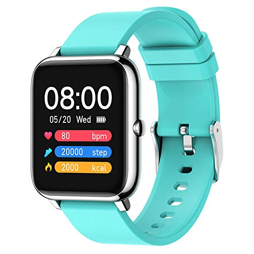 APCHY Smart Watch Reloj Inteligente,Fitneaa Tracker De Pantalla Grande con Ritmo Cardíaco Moritoring Mensaje RECORDATORIO Impermeable IP68 Activity Trackers Watch Pedómetro Cronómetro,D