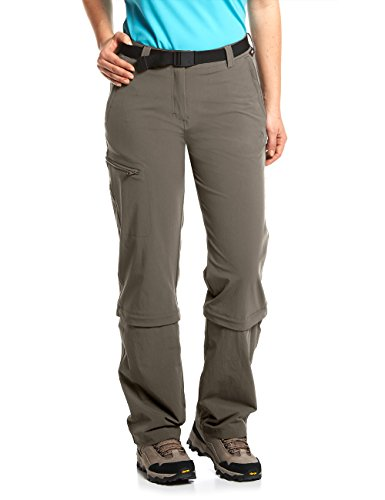 Maier Sports Damen Hose Arolla Zip Off, braun (teak), 40
