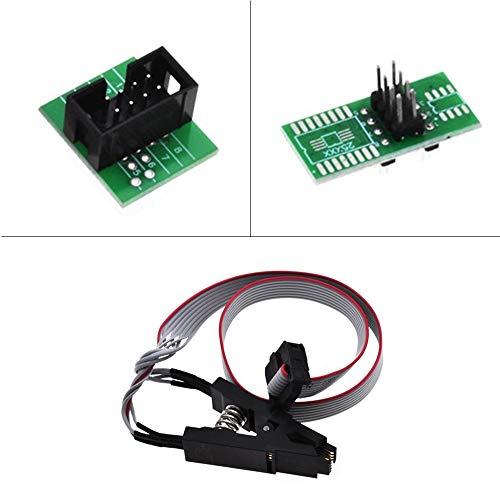 ARCELI SOIC8 SOP8 Test Clip für EEPROM 93CXX / 25CXX / 24CXX In-Circuit-Programmierung + 2 Adapter