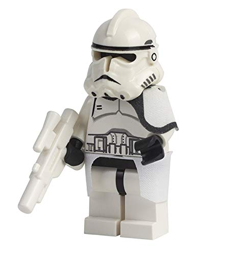 LEGO Accessories: Star Wars EP3 Clone Trooper - Snow Gear - with White Blaster