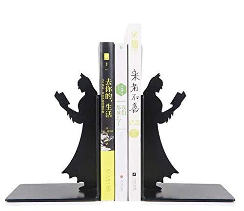 SYNL Black Metal Batman Buchstütze, Einzigartige Bücherregale, Geschenke Für Geeks