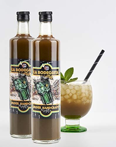 HANDWERK MOJITO -LA BODEGUITA- BEREIT ZU NEHMEN (Schachtel mit 2 Flaschen) Mit goldenem Rum in Fässern gereift