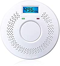 Combination Smoke Alarm and Carbon Monoxide Detector Alarm Battery Operated Digital Display for Home Bedroom Kitchen