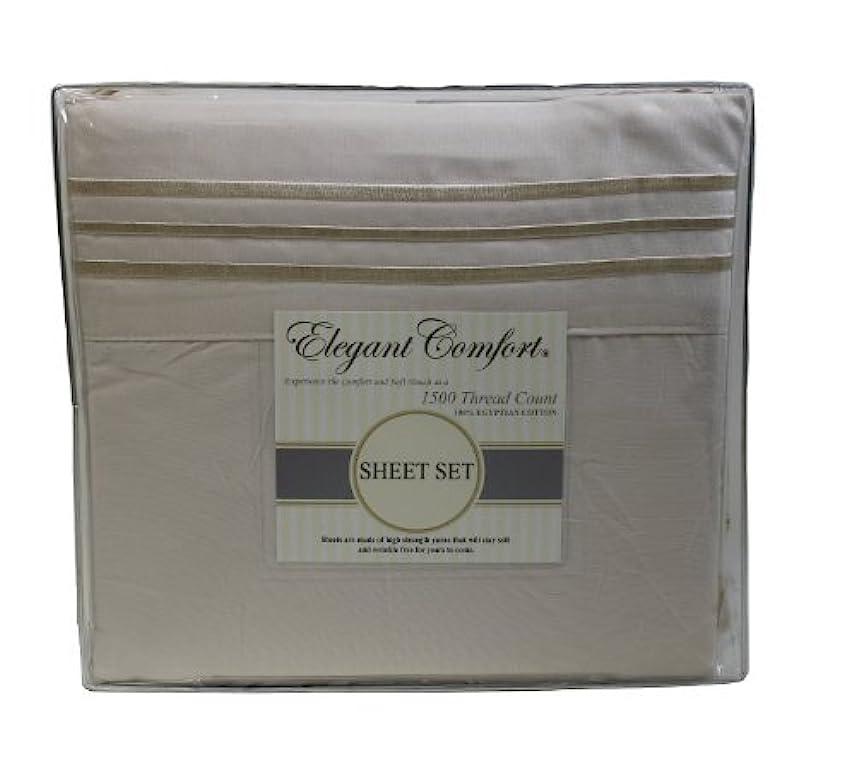 悲観的チャットシンジケート(King, Cream) - Elegant Comfort 1500 Thread Count Luxurious 100% Manufacturer Guaranteed Ultra Soft 4 pc Sheet set, Deep Pocket Up to 41cm - Wrinkle Resistant , King Cream