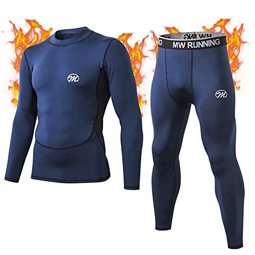 MeetHoo Bielizna termoaktywna, męska, bielizna funkcyjna, oddychająca, bielizna termiczna, bielizna termoaktywna, podstawowa, do jazdy na rowerze, biegania