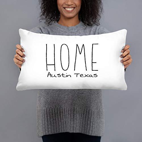 Toll2452 Funda de almohada de dirección personalizada funda de almohada rústica funda de almohada funda de almohada funda de almohada de casa para calentar la casa, regalo para la inauguración de la casa