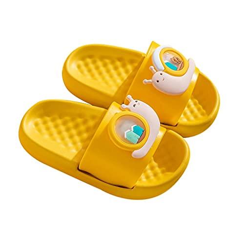 YXCKG Zapatillas Familiares Chanclas para Niños De Verano Zapatillas Casa Niña, Zapatillas De Baño Ligeras, Toboganes Casuales Mudos para Interiores Y Exteriores, Zapatillas De Casa