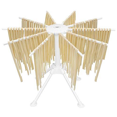 Bugucat - Stendipasta, stendibiancheria con 10 pioli estraibili per fino a 2 kg di pasta, asciugamani, asta di trasporto integrata, asciuga-spaghetti, asciuga-pasta