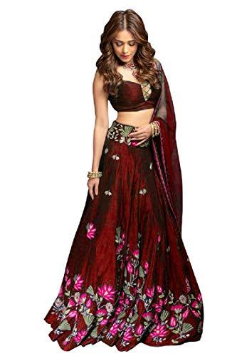 Skyview Fashion Exclusive Indian Bollywood Lengha Designer Semi Stitch Lehenga Choli (Maroon)