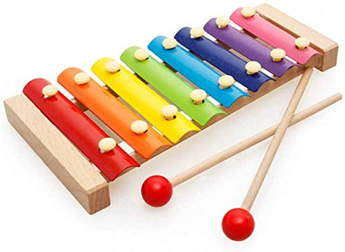 Kids Xylophone Wooden Musical Toy for Kids Ages 3 and upPuzzle Musical Toy Octave Xylophone Wooden Base Learning Educational Musical Instruments