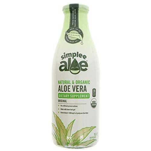 Simplee Aloe  - The #1 Natural & Organic Cold Pressed Aloe Vera Juice 1 Litre (Plain)