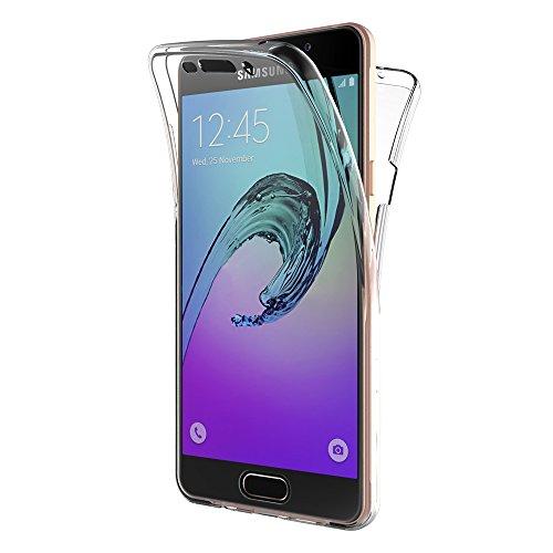 AICEK Cover Compatible Samsung Galaxy A5 2016, 360° Full Body Cover Samsung A5 2016 Silicone Case Molle di TPU Trasparente Sottile Custodia per Galaxy A5 2016 (SM-A510F 5.2 Pollici)