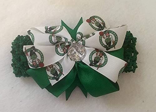 Celtics Baby Girl Boutique Bow Crocheted Headband