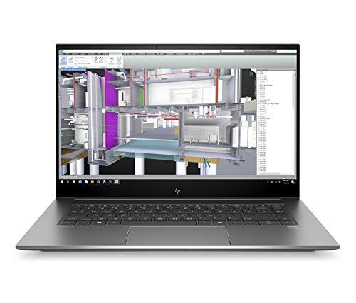 """HP - PC ZBook Studio Notebook, Intel Core i9-10885H, RAM 32 GB, SSD 1 TB, NVIDIA GeForce RTX Quadro 3000 Max-Q 6 GB, Windows 10 Pro, Schermo 15.6"""" UHD 4K, Audio B&O, Lettore Impronte Digitali, Argento"""
