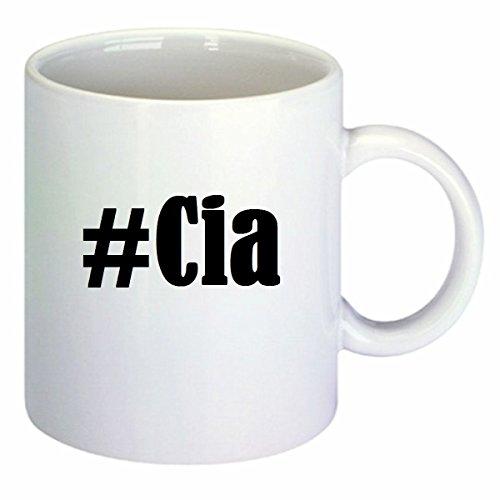 Kaffeetasse #CIA Hashtag Raute Keramik Höhe 9,5cm ? 8cm in Weiß