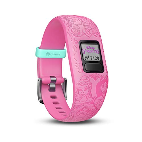 Garmin Vívofit Jr. 2 - Monitor de actividad para niños, con diseño Princesas, color rosa, 6 años en adelante