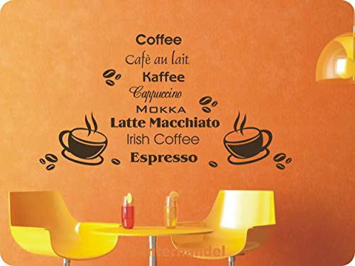 rs-interhandel® Nr. 135 / Kaffee als Wandtattoo, Aufkleber, Redewendung, Spruch, in ihrer Wunschfarbe. Passend in jedes Zimmer. (in bester Qualität aus Markenfolie gefertigt)