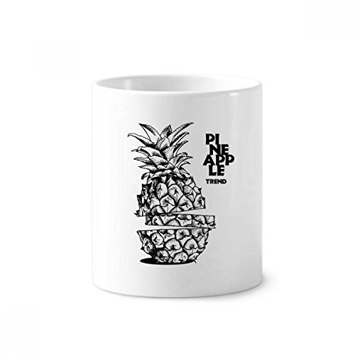 Pineapple Trend Fruit Line Drawing Toothbrush Pen Holder Mug Ceramic Stand Pencil Cup