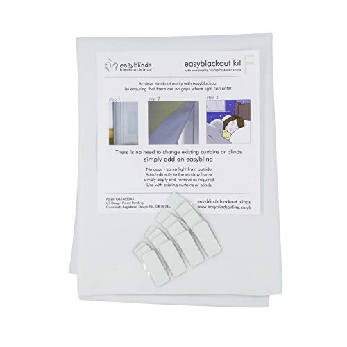 size 2 3m x 1.5m Blackout Blind kit Stick On by easyblinds