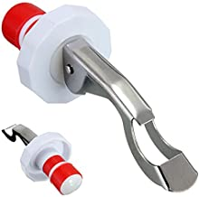 Funnytoday365 Bottle Stopper Sealed Red Wine Plug Stainless Steel Reusable Cap Kitchen Tool