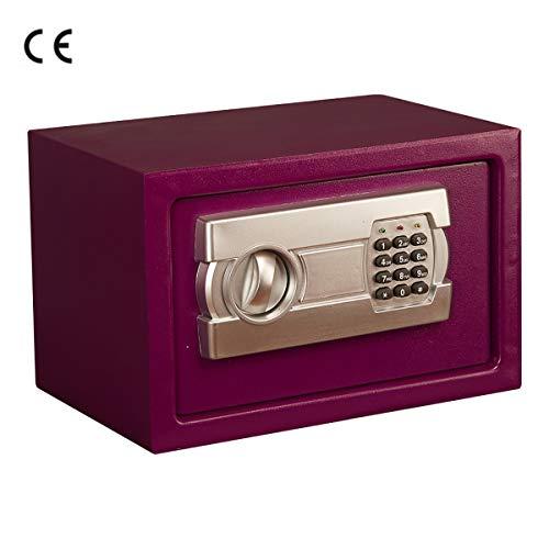MIAOBX Safe - Kleine beveiliging voor thuis - Twee manieren om te openen - Automatisch alarmsysteem - Vast ontwerp - Paars