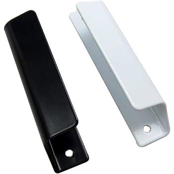 2 piezas! Tirador de puerta corredera de aleación de aluminio cajón de puerta montado en la pared tirador de puerta de vidrio para herrajes para muebles, blanco: Amazon.es: Bricolaje y herramientas