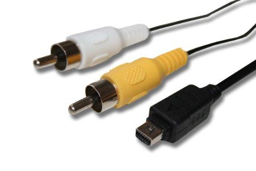 vhbw Cable Audio vídeo AV Compuesto Compatible con Olympus SP-620UZ, SP-700, SP-720,...