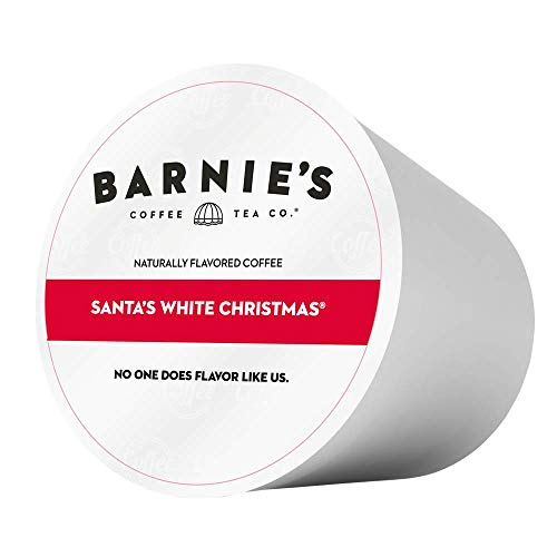 Barnie's Santa's White Christmas Single Serve Coffee | Coffee Pods Compatible With Keurig Brewers | Coconut, Caramel and Vanilla Coffee | Naturally Flavored | Medium Roast | Gluten Free | 48 Count