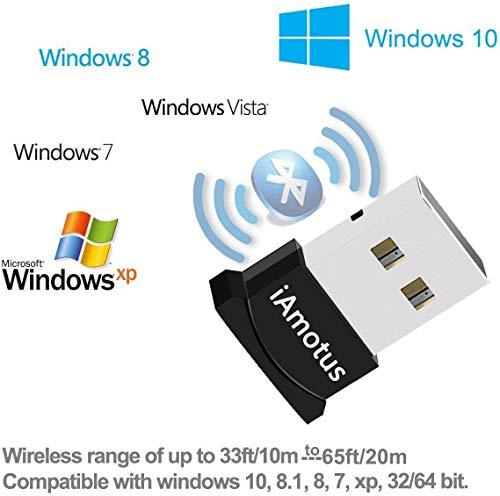 QueenDer Bluetooth Adapter, USB 4.0 Adapter EDR Chip Nano Dongle Empfänger Bluetooth Sender(Plug&Play)für Windows 10/8.1/8/7/Vista/XP, PC, Kopfhörer, Sprecher, Bluetooth Lautsprecher, Tastatur, Maus