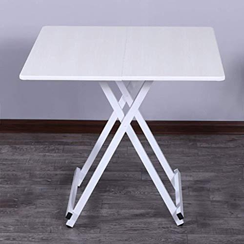 AOIWE Mesa plegable para el hogar, mesa de comedor para cuatro personas, mesa cuadrada sencilla para el hogar (color: blanco, tamaño: 80 x 74 cm)