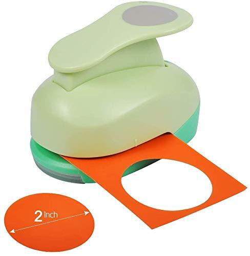 UCEC Stanzer Kreis, Kreisstanzer XL, Stanzer Rund zum Basteln mit Papier, für DIY-Geschenkkarten Scrapbooking-Karten(ø5.08cm)