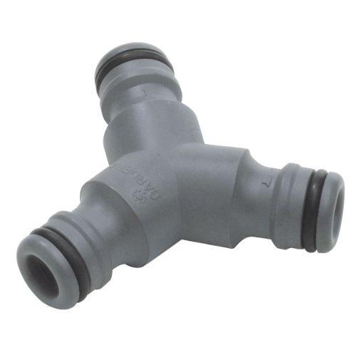 Gardena Y-Stück, zur Schlauchabzweigung, Anschluss zum Übergang von 19 mm (3/4 Zoll) auf 13 mm (1/2 Zoll) Schläuche, zur zeitgleichen Verwendung einer Wasserquelle, verpackt (2934-20)