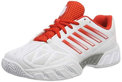 K-Swiss Women's Bigshot Light Tennis Shoe, White/Magenta/Silver, 6.5 M US