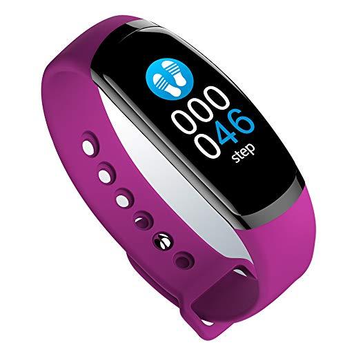 YANGFH 3 Wasserdichte Intelligente Armband Blutdruck, Herzfrequenz-Uhr Sport Männer Und Frauen Laufen Farbe Multifunktions-Universal-Gesundheitsarmband Pedometer 30 Meter Leben Wasserdicht Bluetooth H
