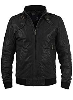 !Solid Dash Herren Lederjacke Bikerjacke Echtleder Mit Stehkragen, Größe:M, Farbe:Black (9000) (B005LMXOIC) | Amazon price tracker / tracking, Amazon price history charts, Amazon price watches, Amazon price drop alerts