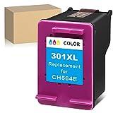 ATOPolyjet Remanufactured for HP 301 XL 301XL Cartucho de Tinta 1 Pack para Deskjet 1000 2050 2510 2540 3000 3050 Envy 5530 4500 4507 5532 4502 5534 4504 Officejet 2620 2622 4630 4632 (1 Tri-Colour)