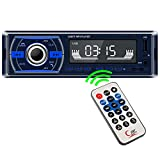 Radio Coche, REAKOSOUND Autoradio Bluetooth 1 DIN Reproductor MP3 de Coche Radio Bluetooth Manos Libres soporta FM/USB/TF/AUX IN/con Control Remoto